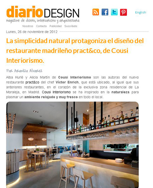 Diario Design NOV 2014 Cousi Interiorismo